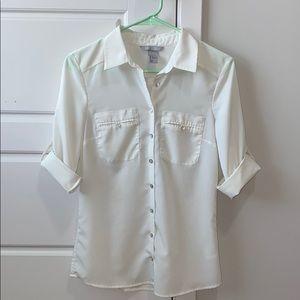 H&M White Blouse Sz 4
